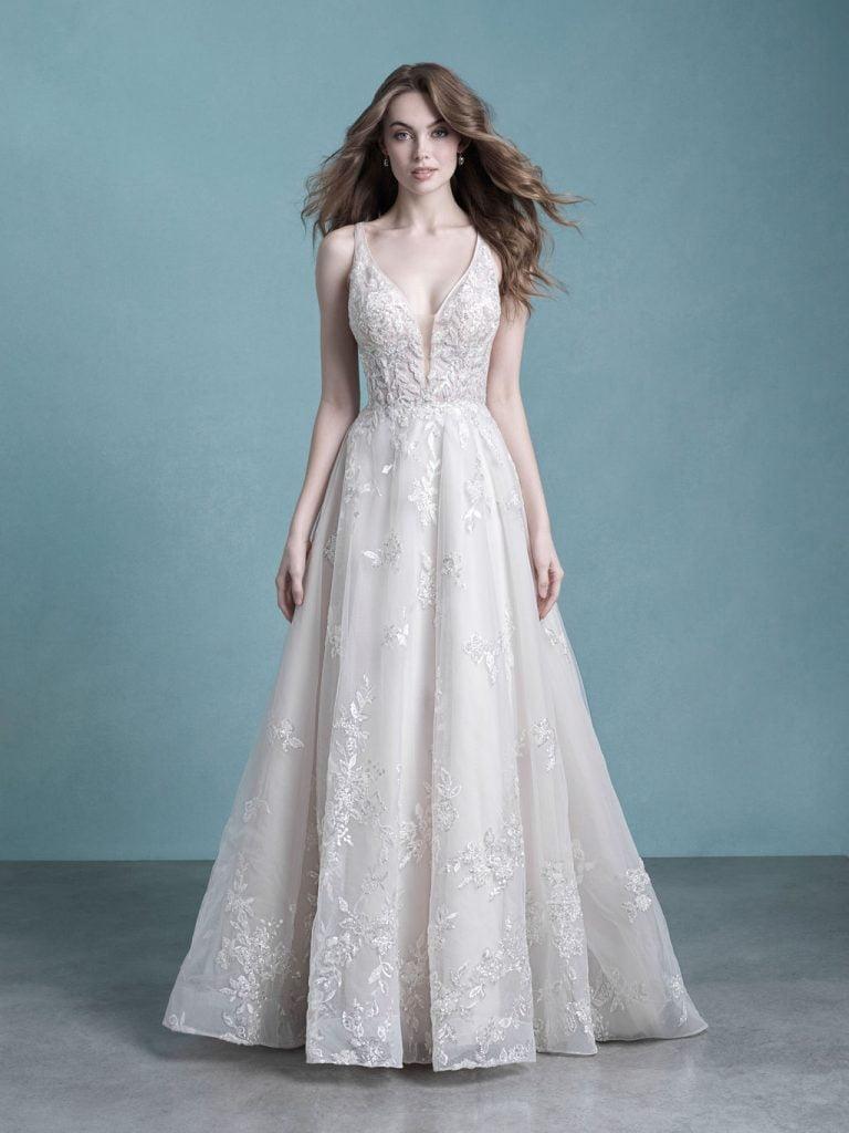Amara-9758-Allure Bridals Ivory/Champagne SZ 12 WAS £1900 NOW £1100