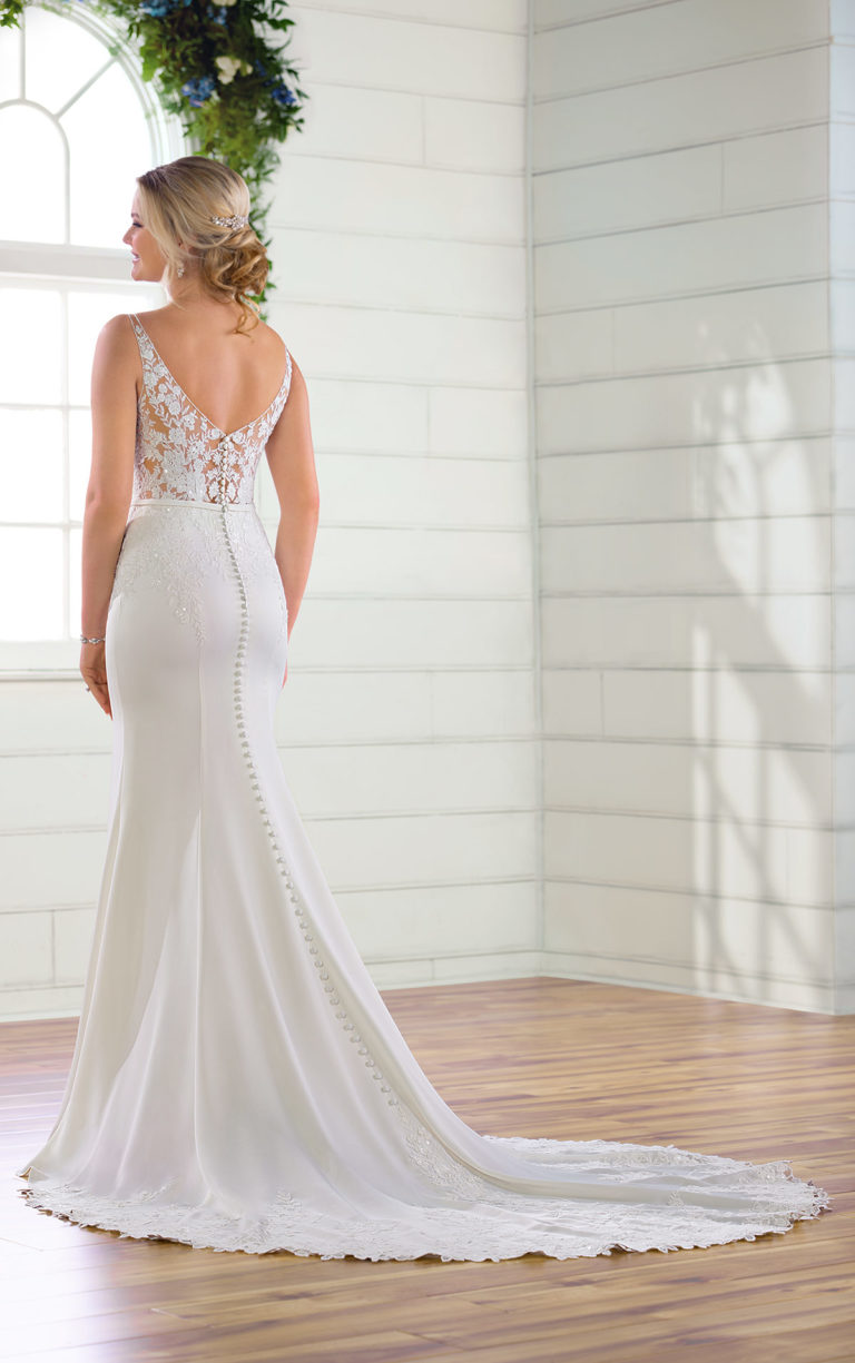 Low Back & Statement Train Wedding Dresses